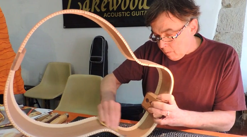 SARZANA 2013 LAKEWOOD GUITAR MAKING